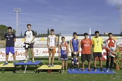 Andrea Recchi per la premiazione dei 100m