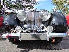 Wheaton, IL, Cantigny Park Classic Car Show, Black Triumph, All That Glitters Is Not Gold (Mary Warren (7.4+ Million Views)) Tags: wheatonil cantignypark classiccars car automobile black chrome lights triumph