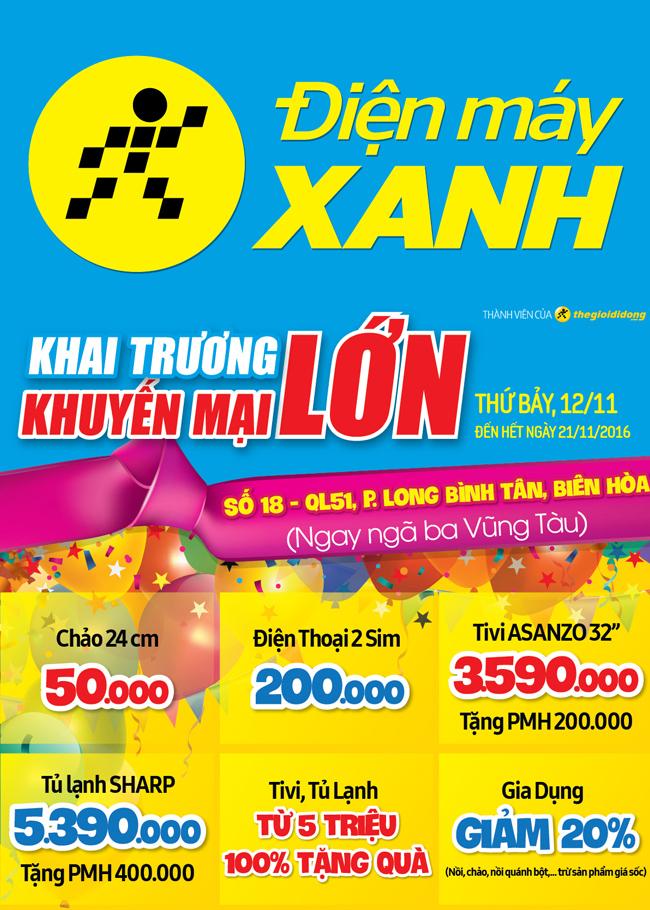 Khai trương siêu thị Điện máy XANH Ngã 3 Vũng Tàu, Đồng Nai