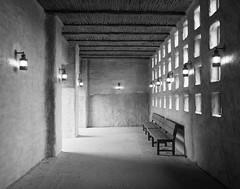 Have a seat - Wildlands Emmen (Martijn van Sabben) Tags: zoo seat hall hallway light lights dof architecture shadow bnw blackwhite blackandwhite roof walls cool grey monochrome holland nederland