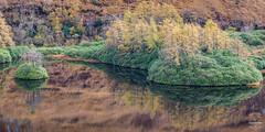 Lochan Urr (tristantinn) Tags: scotland glencoe glen etive lochan urr beauty nature reflection glass mirror autumn