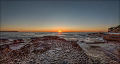 Here we go again (JustAddVignette) Tags: australia beach dawn deewhy early headland landscapes newsouthwales northernbeaches ocean panorama rockpool rocks seascape seawater sky sunrise sydney water