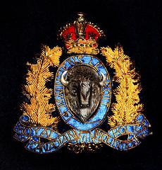 Stitching Canada Together (edmason88) Tags: royalcanadianmountedpolice rcmp badge historic tamron90mmvcmacro stitch macromondays