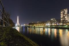 Docks of Grenelle district (Guy Heaume) Tags: paris nuit night light river rivire seine ile eiffel france colors couleurs