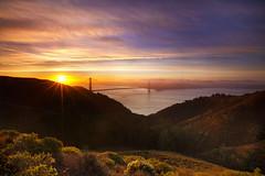 Sunrise At The Gate (M. Shaw) Tags: sunrise sanfrancisco goldengatebridge hawkhill marinheadlands