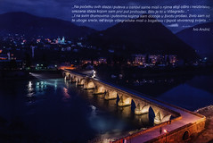 Viegrad Visegrad; 2015_2, Republic of Srpska, Bosnia & Hercegovina (World Travel Library) Tags: viegrad visegrad 2015 historical architecture bridge nights lights unesco world heritage srpska bosnia herzegovina bosna   library center worldtravellib papers prospekt catalogue katalog photos photo photograph picture image collectible collectors ads holidays tourism touristik touristische trip vacation photography collection sammlung recueil collezione assortimento coleccin gallery galeria documents dokument broschyr esite catlogo folheto folleto  ti liu bror