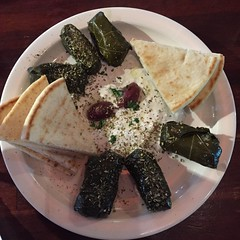 Austin: OPA! Coffee & Wine Bar - Tzatziki & Dolmas (escriteur) Tags: img5431 austin southaustin opa bar greek restaurant dolmas dolmades tzatziki