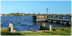 River View (Chris C. Crowley- grieving and recovering) Tags: riverview halifaxriver amespark ormondbeachfl water dock fishingpier lamp boatramp scenic landscape river bluesky