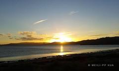 153. MAGIC HOUR:  Apollo Sipping Tequila Sunrise (www.YouTube.com/PhotographyPassions) Tags: outdoor sun sunny bright yellow ocean sea seashore seaside landscape coast shoreline shore beach sunset sky blue clouds hills mlppylandscape
