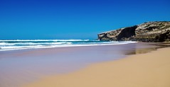 Einfachheit - Simplicity (gerhard.boepple) Tags: portugal meer see ocean atlantik beach strand sand wasser