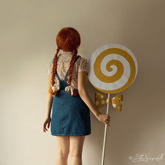 Gretel (Elis's ) Tags: gretel fairytales favola fable fiaba fantasy fantastic fantastique fantasia leccalecca lollipop yellow giallo fiocco bow polkadot pois lolly trecce braiding fiocchi redhead child bambina kid capellirossi redhair elisascascitelli elisphotography wall parete portfolio portrait ritratto portraiture ritrattistica selfportrait autoritratto fineart art arte artistic luce light dark darkness magic magia mysterious mistero tale racconto colorful tono canon5dmark3 2470mm redwoman woman ragazza girl teen beauty poetry innocence delicate delicacy conceptual concettuale square fairyland poesia pic image photo posa