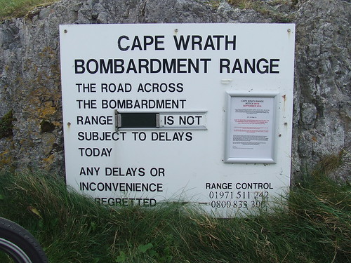 2016 # 64, Keodale Pier Cape Wrath Bombardment Notice, Keodale, Highland 3.