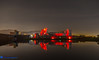 Caerphilly Castle Poppy (Stevehughes1250) Tags: caerphilly caerphillycastle caerfilli moat drawbridge castle southwales red reflection night poppies remembrance sunday autumn