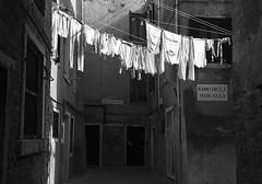 (kekyrex) Tags: venice venezia italy italia laundry pannistesi bw