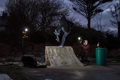 Rob 'Sandy' Sanderson - FS boneless (Sanderson19) Tags: skateboarder skate skateboarding long lens diy night photography tamron 2470 600d t3i skater boneless fs bs air smith blunt nose