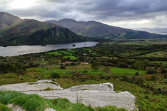 Ireland - Mountain Lake (WMJ614) Tags: ireland mountain lake healypass healeypass clouds sky water meadow plant flower green mountainrange landscape panasonic lumix fz1000