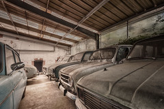 """""""Des voitures  vivre..."""" (ElfeMarie) Tags: garage voitures vhicules 4l anciennes oublies decay lost rusty creepy urbex"""