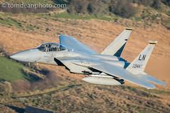 USAF F-15D 493rd FS 'SCOFF' (Tom Dean.) Tags: f15d idris cadair usaf lowfly machloop d810 nikon wales eagle f15