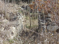129. A rock-lined cellar across from the other foundations, Brantford, 11-5-16 (leverich1991) Tags: exploring kansas 2016 brantford ghost town washington store