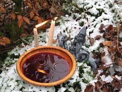 Thor with Blessing Bowl (Thorskegga) Tags: god clay idol thor viking thunder saxon pagan norse anglo heathen asatru heathenry thuner godfigure