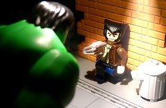 Hulk vs Wolverine (Legoagogo) Tags: england lego xmen hulk avengers wolverine chichester moc afol snikt