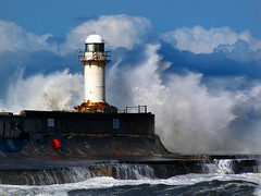 The tempest. (paul downing) Tags: lighthouse storm canon waves redcar pdp southgare pd1001 sx10is pauldowning