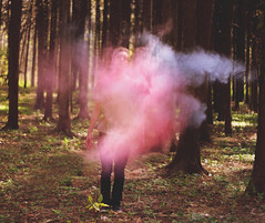 (Kyle.Thompson) Tags: blue boy red portrait guy forest self woods paint purple powder colored 365