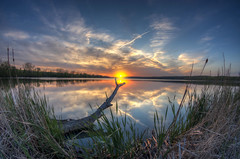 Saganashkee (Brian Koprowski) Tags: sunset wild lake love nature colors reflections outdoors illinois pentax fisheye slough hdr palos paloshills saganashkeeslough saganashkee pentaxk5 briankoprowski bkoprowski 2013cc