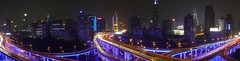 Shanghai - Blue Roads Panorama (cnmark) Tags: china road city blue light panorama night landscape geotagged noche highway cityscape shanghai traffic expo nacht district trails an led trail yan noite intersection  elevated  nuit stitched notte 2010 nachtaufnahme huangpu  yanan nanbei allrightsreserved     mygearandme mygearandmepremium mygearandmebronze mygearandmesilver mygearandmegold mygearandmeplatinum mygearandmediamond dblringexcellence tplringexcellence eltringexcellence geo:lat=3122544 geo:lon=121464752