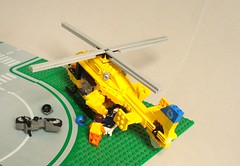 ADAC Rescue Helicopter (2) (Kit Bricksto) Tags: 2 rescue lego version medical helicopter minifig minifigs v2 eurocopter adac rotor ec135 minifigure moc minifigures cuusoo