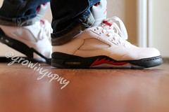 Air Jordan Retro V (growingupny) Tags: retro yesterday jumpman airjordan tinkerhatfield whatdidyouweartoday retrov flickrandroidapp:filter=none