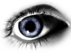 blue eye (JasonBarnes73) Tags: blue iris woman canada macro eye colors girl female see women colours lashes body eyeball sight closeups isolated
