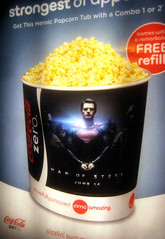 Man of Steel - New Superman Popcorn Tub  0171 (Brechtbug) Tags: street new york city nyc man building tower clock work dark comics painting movie poster book evening dc paint theater comic near steel character alien ad bat working broadway superman billboard advertisement adventure tub popcorn hero superhero billboards knight worker gotham 34th paramount krypton 2013
