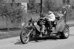 Enjoying the ride (FraJH Photos) Tags: bw white black mike netherlands bike ride zwartwit trike enjoying zw weert 2013 bambitreffen