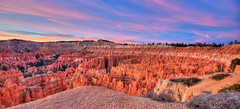 Bryce Canyon Sunrise (Adam's Attempt (at a good photo)) Tags: pink red orange cold color colors yellow sunrise utah nationalpark nikon colorful erosion national edge bryce redrock brycecanyon nationalparks pinetrees hdr hoodoos pinkclouds brycenationalpark d90 sunrisepoint photomatix utahstate cs5 lr4 colorfulsunrise brycecanyonsunrise
