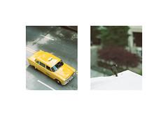 (wvlsh) Tags: city atlanta roof bird film yellow 35mm vintage georgia movie nikon downtown taxi retro 70s movieset filming n70 filmset woodruffpark downtownatlanta anchorman2