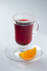gluhwein2-small (danilaflomaster) Tags: christmas xmas winter red orange holiday snow hot cup glass season table lemon wine symbol drink decorative cinnamon background decoration spices alcohol heat punch relaxation aroma anise gluhwein glintwine