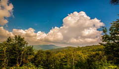 Blue Ridge Parkway Scenic Mountains Overlook (DigiDreamGrafix.com) Tags: travel flowers trees summer sky sunlight mountains nature june horizontal clouds landscape outdoors nc spring day afternoon view asheville sightseeing scenic july northcarolina hills adventure nationalforest valley vista daytime blooms wilderness peaks overlook exploration blueridgemountains blueridgeparkway ridges horizons