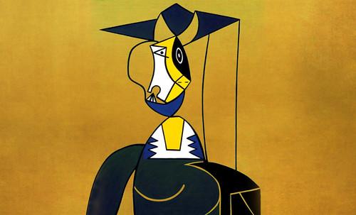 "Mujer en Gris, caracterización de Pablo Picasso (1942), recreación de Roy Lichtenstein (1962). • <a style=""font-size:0.8em;"" href=""http://www.flickr.com/photos/30735181@N00/8815853566/"" target=""_blank"">View on Flickr</a>"
