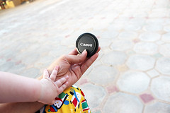 (SaraMsk) Tags: baby canon lens hands backyard child hand cover omar  d600