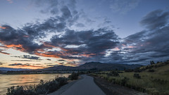Sunset from the Eastside trail (lbadge320) Tags: pink sunset red sky orange reflection columbiariver eastwenatchee
