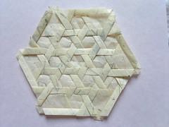 Joel Cooper - Basket Weave (MihaelaEudaimonia) Tags: paper origami basket joel bamboo cooper weave tessellation