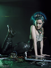 Cyber - 6 (Hidrico) Tags: portrait woman sexy beautiful beauty fashion female digital photography women makeup stretch fantasy pinup alternative cyberpunk
