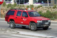 Bombers de Mallorca IB-0818-DC, Toyota Hilux in Inca (majorcatransport) Tags: inca toyota majorcafire