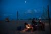 Marina Beach, Chennai (Vivek M.) Tags: beach marina dusk shack chennai