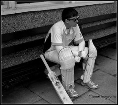 The next man in (Steve.T.) Tags: blackandwhite mono butterflies cricket essex sportsman nerves cricketer cricketbat cricketplayer higheastercricketclub ommot ommotimagery greatwalthamcricketclub greatwalthamessex