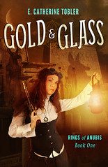 Rings of Anubis: Gold & Glass (MissElise) Tags: paris egypt rawr bookcover steampunk werewolves goldglass ringsofanubis