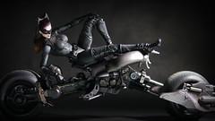 Selina Kyle on Batpod (kevchan1103) Tags: kyle dark toys play action arts kai figure batman knight catwoman rises bandai sic selina the batpod tdkr