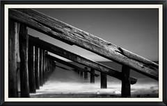 Spurn point v2 (shaun Hickman) Tags: wood longexposure sea white black seaweed beach water coast chalk sand rocks stones yorkshire wave breaker groin spurnpoint