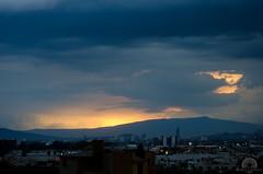 Atardecer lluvioso (Kra Godinez) Tags: city light sunset luz sol azul project atardecer lluvia nikon ciudad nubes nublado 365 d7000 nikond7000 kragodinez